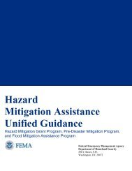 Hazard Mitigation Assistance Unified Guidance - California ...