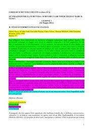 Il testo interpretativo - Scuole Maestre Pie