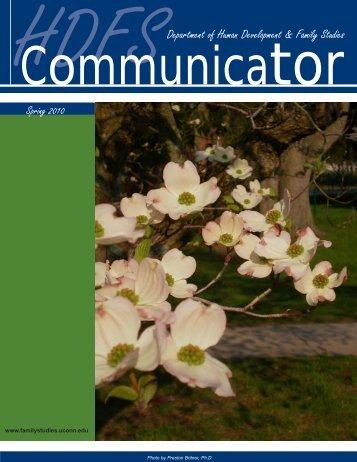 HDFS Communicator, Spring 2010 - Human Development and ...