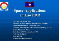 Space Technology Applications in Lao PDR - APRSAF