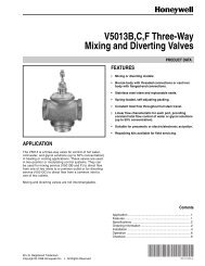 V5013B,C,F Three-Way Mixing and Diverting Valves - PexSupply.com