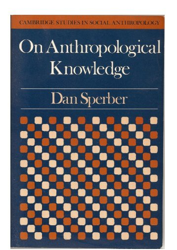 Three Essays. Cambridge University Press. - Dan Sperber