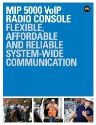 MIP 5000 VoIP Radio Console Brochure - Stream Marketing System