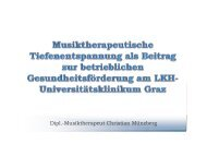 Musiktherapeutische Tiefenentspannung als Beitrag zur ... - ONGKG