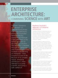 EnTERpRISE ARChITECTURE: - Raytheon Australia