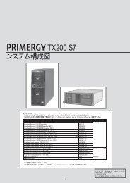 PRIMERGY TX200 S7 システム構成図 (2013年4月 ... - 富士通 - Fujitsu