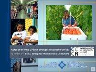 Rural Economic Growth through Social Enterprise: By Ethel Côté