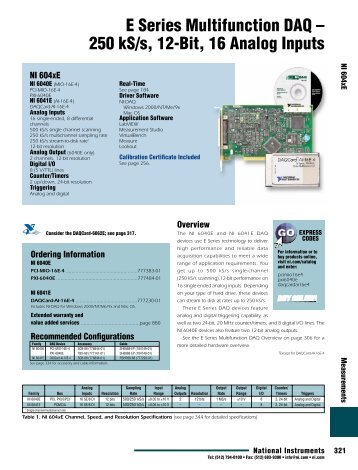 E Series Multifunction DAQ - National Instruments