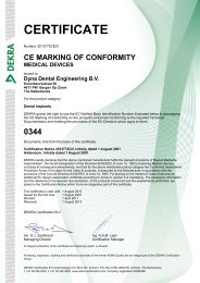 CERTIFICATE - Dyna Dental