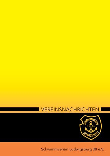 VEREINSNACHRICHTEN - Schwimmverein Ludwigsburg 08 eV