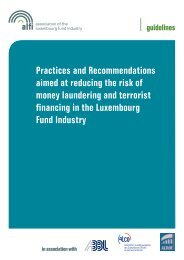 Practices and Recommendations aimed at reducing the risk of ... - Alfi