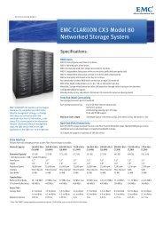 EMC CLARiiON CX3 Model-80 Specification Sheet - EMC Centera