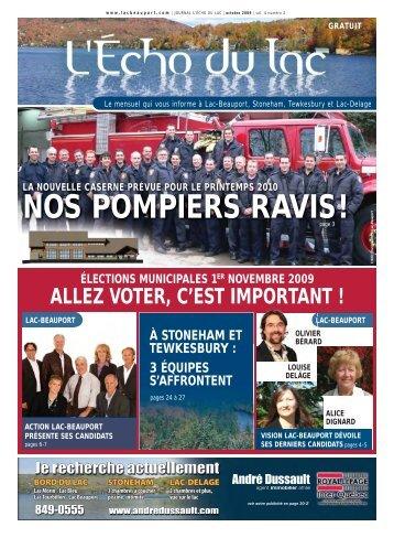 NOS POMPIERS RAVIS ! - L'Écho du Lac