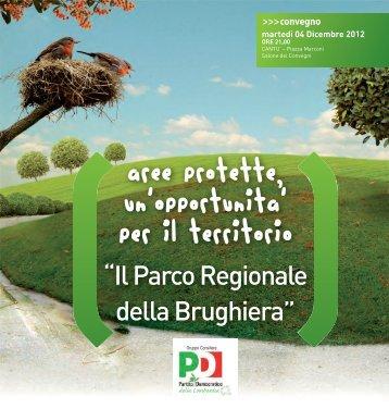 aree protette, un'opportunita' per il territorio - Comitato per il Parco ...