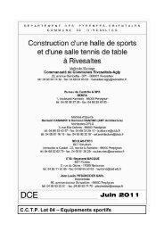 CCTP Lot 04 – Equipements sportifs - Mairie de Rivesaltes