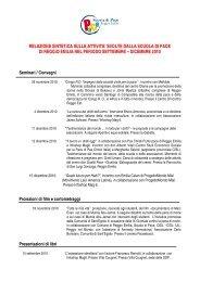 REPORT ATTIVITA' - Comune di Reggio Emilia