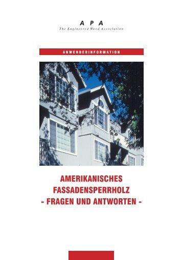 Amerikanisches Fassadensperrholz - BAYOU Holzwerkstoffe GmbH