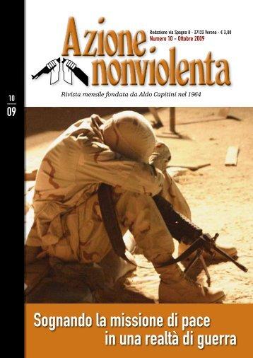 Ottobre 2009 - Movimento Nonviolento