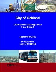 Intelligent Transportation Systems - City of Oakland