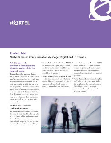 Nortel Digital and IP Phones - felix telecom