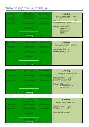 Saison 1993 / 1994 – 2. Kreisklasse