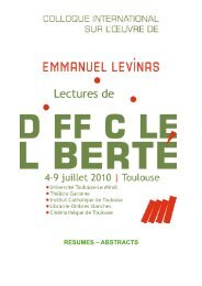 L'héritage d'Emmanuel Levinas Atelier bi-national franco-ukrainien