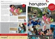 Vue d'ensemble des projets 2012 - Horyzon