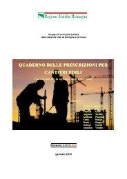 Quaderno delle prescrizioni per cantieri edili - Azienda USL di ...