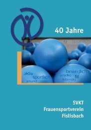 Highlights 40 Jahre SVKT Fislisbach