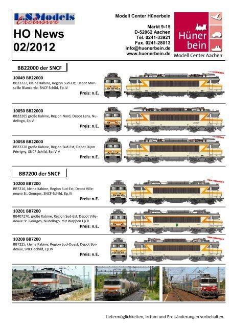 HO News 02/2012 - Modell Center Hünerbein