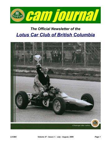 Volume 27, Issue 03 Jul-Aug - Lotus Car Club of British Columbia