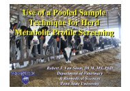 Use of a Pooled Sample Technique for Herd Metabolic Profile ...