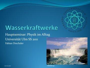 Hauptseminar: Physik im Alltag Universität Ulm SS 2011