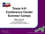 4-H Summer Camp - Texas 4-H and Youth Development