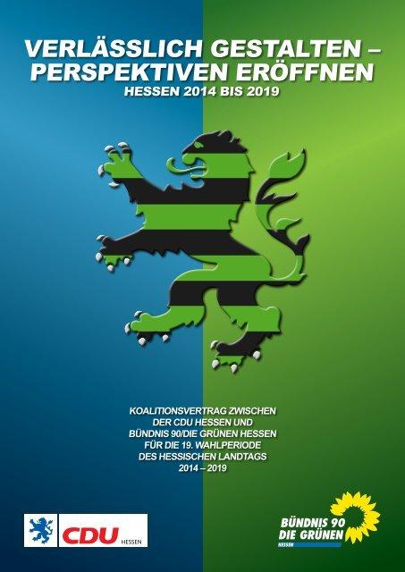 Koalitionsvertrag - Bündnis 90/Die Grünen Hessen