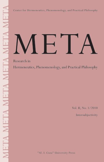 META_vol II_no1 - META. Research in Hermeneutics ...