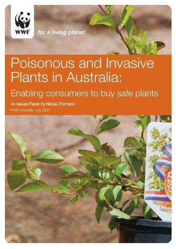 Poisonous and invasive plants REPORT - wwf - Australia