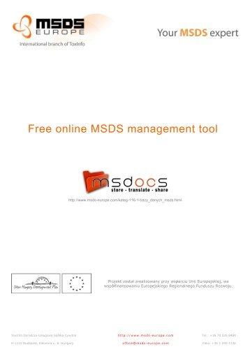 Pobierz - MSDS Europe