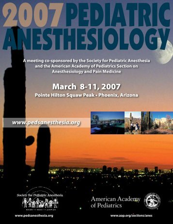DLINE: , 2006 - The Society for Pediatric Anesthesia