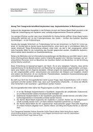 Anzug Toni Casagrande betreffend Asylzentren ... - SVP Basel-Stadt