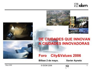 Ciudades innovadoras - City & Values
