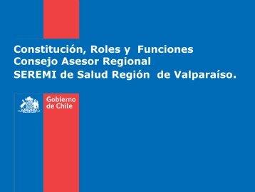 Funciones y Roles del CAR - SEREMI de Salud Región Valparaíso