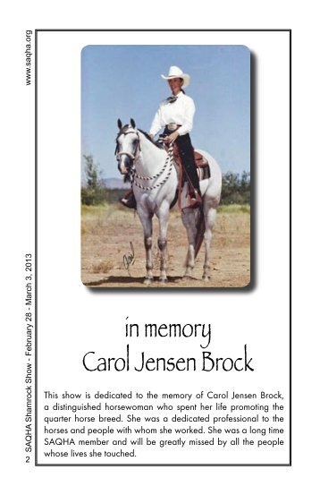 Entire Premium - Southern Arizona Quarter Horse Association