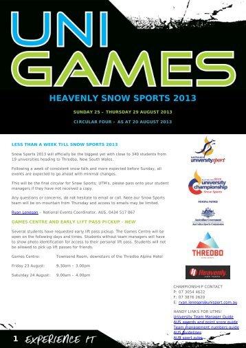 NEW - August circular - Australian University Sport