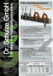 K -M a x B e fe s tig u n g s s y s te m - Dr. Schulze GmbH