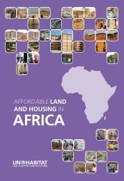 AFFORDABLE LAND AND HOUSING IN AFRIcA - UN-Habitat