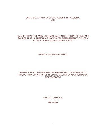 universidad para la cooperacion internacional (uci) plan de proyecto ...