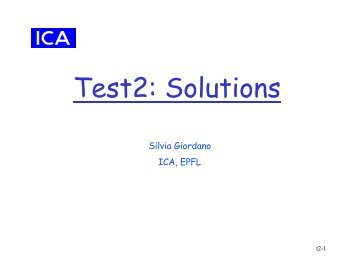 Test2: Solutions - EPFL