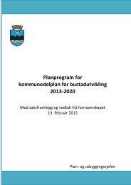 kommunedelplan for bustadutvikling 2013-2020 - Fjell kommune