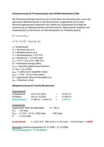 Regelwerksergänzungen DVGW Arbeitsblatt G 600 – TRGI – zur ...